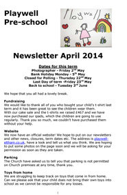 NEWSLETTER April 2014-1