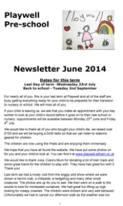 NEWSLETTER June 2014-1