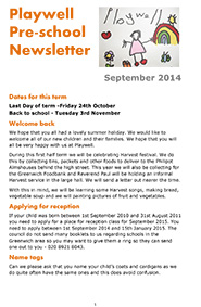 NEWSLETTER September 2014-1