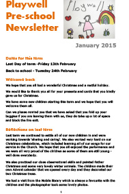 NEWSLETTER January 2015