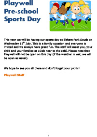 Playwell Sports Day 2015