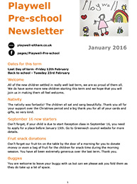 NEWSLETTER January 2016