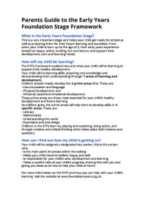 EYFS Parent Guide